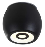 Ceiling light LED outdoor white or black dimmable 5W 112mm high