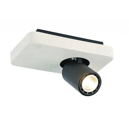 Plafonnier LED design noir blanc orientable GU10 4,5W 200mm large