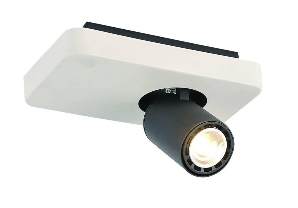 Ceiling light design led black white orientable gu10 4 5w for Led ceiling light design