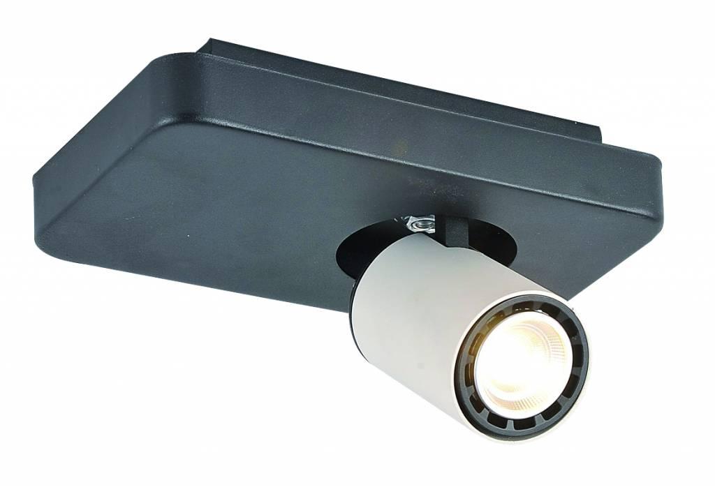 Ceiling light design LED black white orientable GU10 4,5W 200mm wide