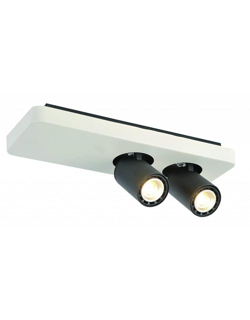 Ceiling light design LED black white orientable GU10 2x4,5W 350mm wide
