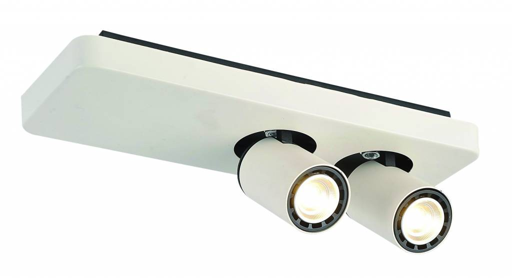 plafonnier led design noir blanc orientable gu10 2 5 Bon Marché Plafonnier Led Blanc Zzt4