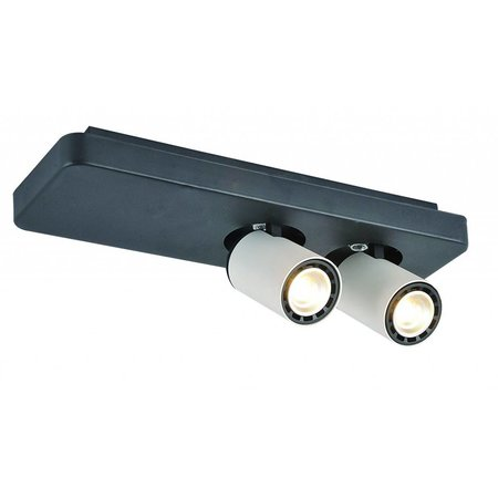 Plafonnier LED design noir blanc orientable GU10 2x4,5W 350mm large