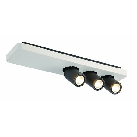 Ceiling light design LED black white orientable GU10 3x4,5W 500mm wide