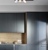 Plafonnier LED design noir blanc orientable GU10 3x4,5W 500mm large