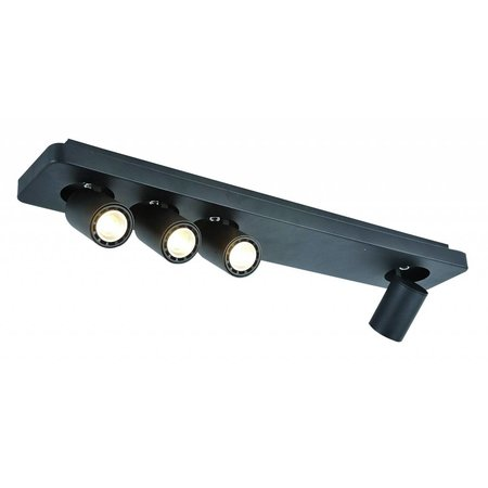 Ceiling light design LED black white orientable GU10 4x4,5W 650mm wide