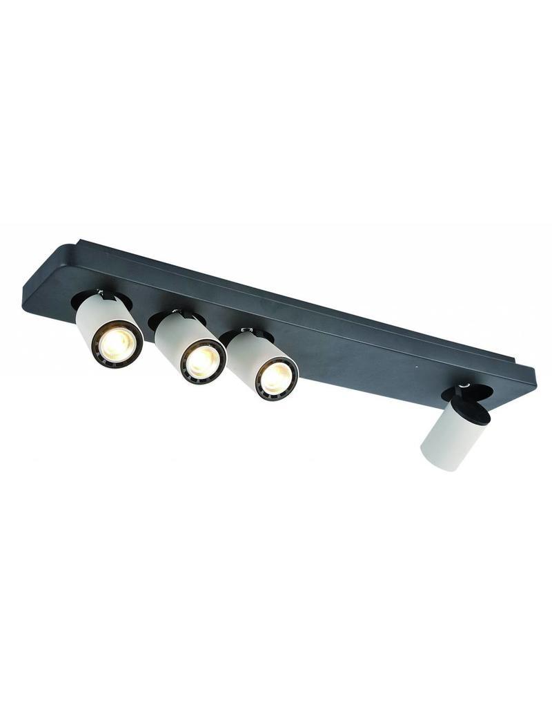 Ceiling light design LED black white orientable GU10 4x4,5W 650mm wide