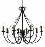 Pendant light chandelier antique white or black 8xE14 835mm high