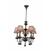 Pendant light chandelier black grey retro 5 lamp shades E14 504mm high