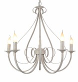 Luminaire suspendu antique blanc ou noir 5xE14 360mm haut