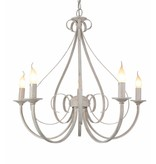Pendant light chandelier antique white or black 5xE14 360mm high