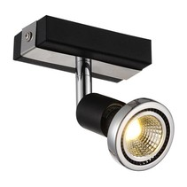 Ceiling light LED white/black/chrome/brushed steel 1xGU10 5W 77mm H