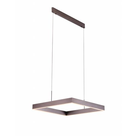 Pendant light design square brown, white, black 31W
