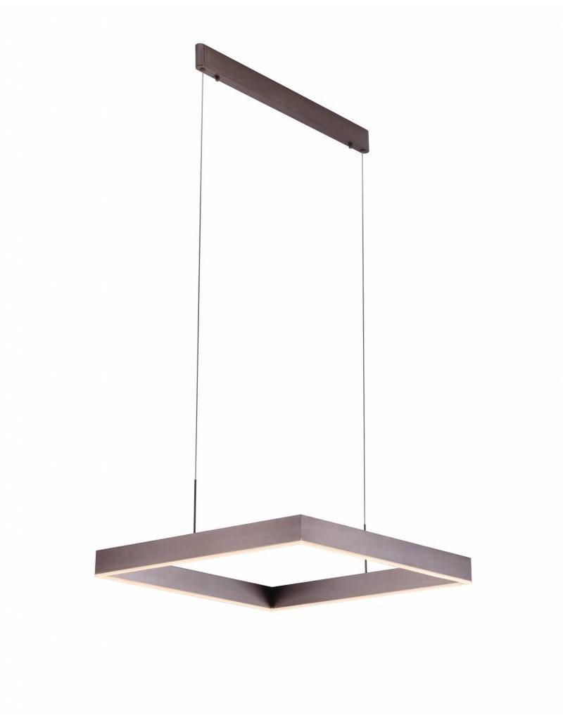 Hanglamp vierkant design LED bruin, zwart, wit 31W