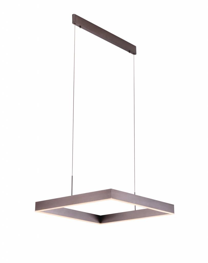 luminaire suspendu noir led carr brun noir blanc 31w myplanetled. Black Bedroom Furniture Sets. Home Design Ideas