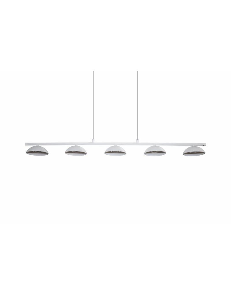 Luminaire suspendu led blanc dimmable long 5x5w led cob for Luminaire suspendu blanc
