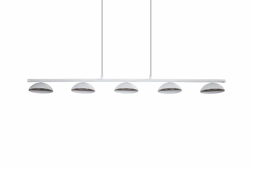Luminaire suspendu led blanc dimmable long 5x5w led cob for Eclairage exterieur blanc