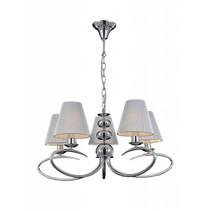 Pendant light chandelier antique 5 grey lamp shades E14 330mm high
