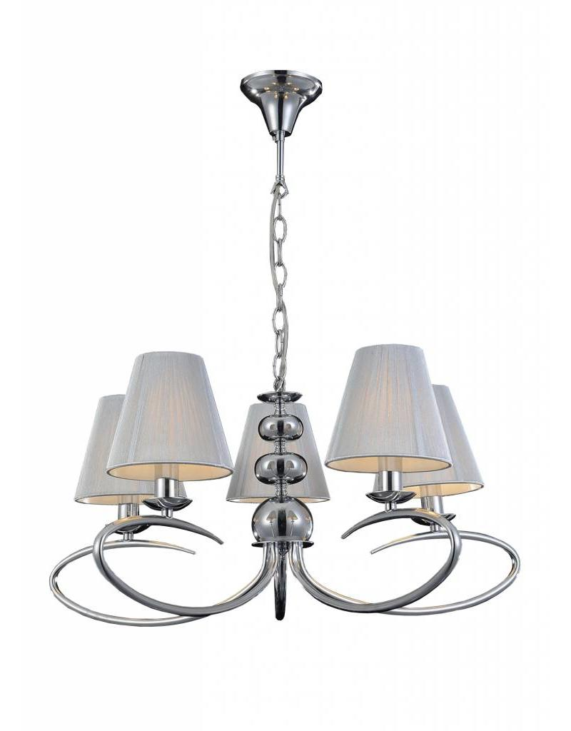 Pendant light chandelier antique 5 grey lamp shades E14 330mm high