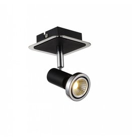 Ceiling light LED white/black/chrome/brushed steel 1xGU10 5W 105mm H