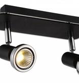 Ceiling light LED white/black/chrome/brushed steel 2xGU10 5W 105mm H