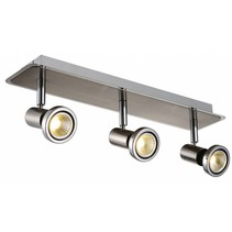 Ceiling light LED white/black/chrome/brushed steel 3xGU10 5W 105mm H