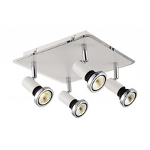 Plafonnier LED carré blanc/noir/chrome/gris 4xGU10 5W 250mm
