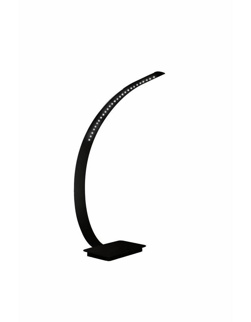 Desk lamp LED design white or black bended 5,4W 500mm high