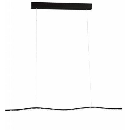 Hanglamp wit of zwart LED lang 16,8W 1040mm breed