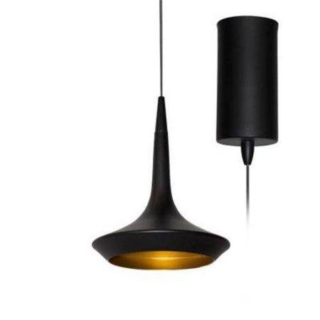 Luminaire Suspendu Design Noir Dore 160mm H Led 8w Myplanetled