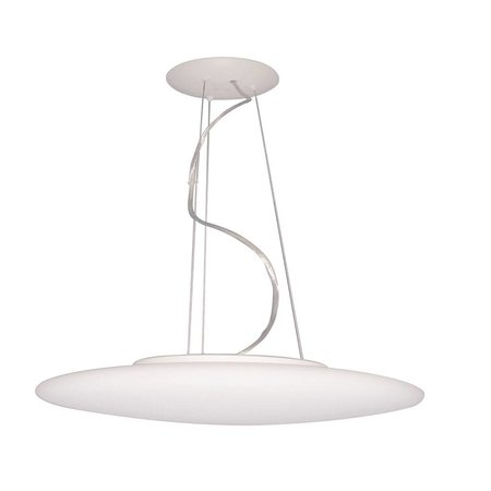 Hanglamp wit rond glas mat 430mm breed 3xE27 1200mm hoog