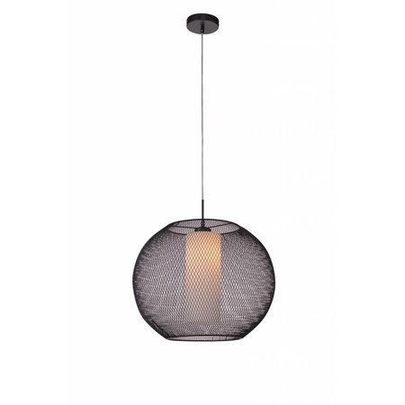 Pendant light bulb black-white E27 500mm diameter
