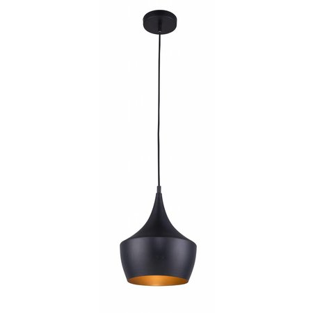 Pendant light design black-gold 1xE27 250mm diameter