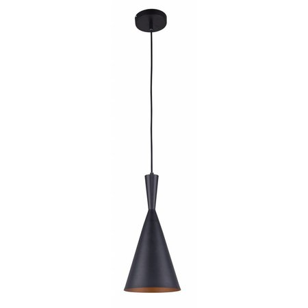 Pendant light design conic black-gold 1xE27 185mm diameter