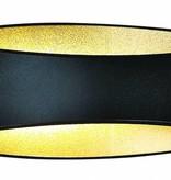 Wandlamp zwart goud, wit, grijs LED ovaal 5W 175mm breed