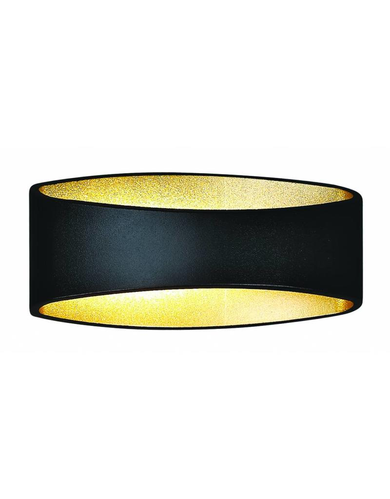 Vega Wall Lamp Black Led 5w : Wall light design LED black gold, white, grey 5W 175mm wide - Myplanetled