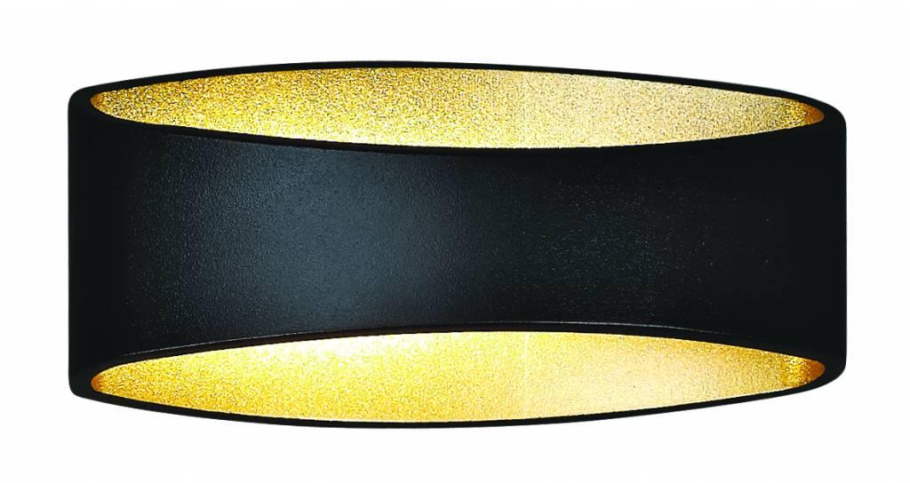 Wall light design LED black gold, white, grey 5W 175mm wide