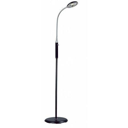 Floor lamp black-white-bronze-grey LED foldable 5W 1400