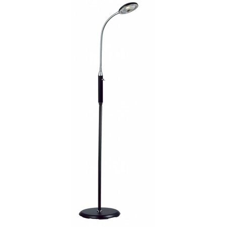 Staande lamp led zwart-wit-grijs-brons plooibaar 5W 1400