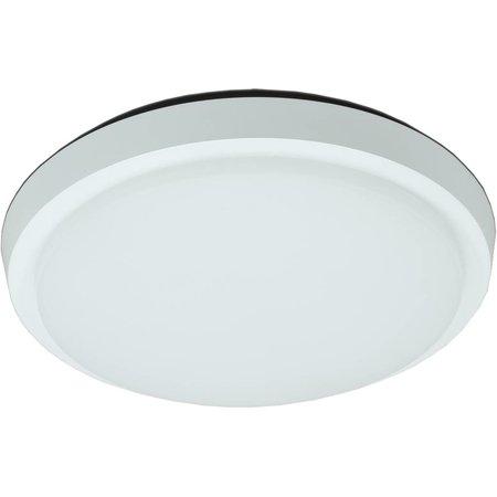 Plafonnier LED salle de bain verre mat 20W LED IP44 203mm