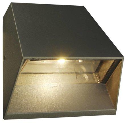 Wandlamp buiten LED 6W grafiet/wit/zilver/roest IP54 125mm hoog