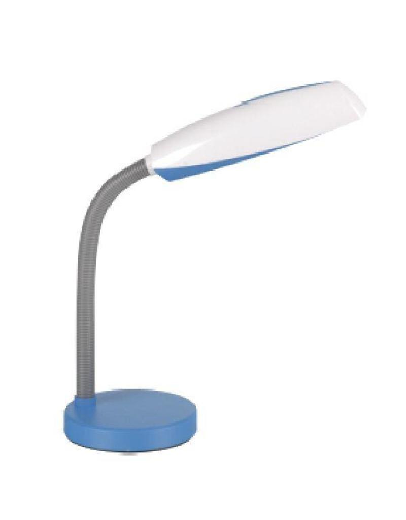 Desk lamp white-blue, white-green, white-purple E27 bendable 400mm high
