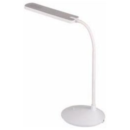 Lampe de bureau LED noire ou blanche pliable 6W 410mm haut