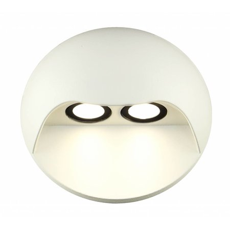 Outdoor wall light LED 2x3W graphite/white/silver/rust IP54 130mm H