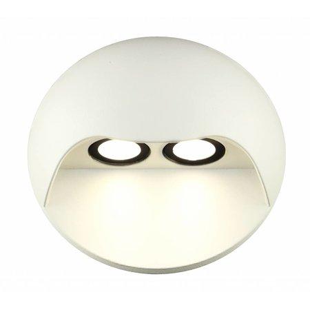 Wandlamp buiten LED design 2x3W LED grafiet/wit/zilver/roest 130mm H