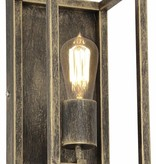Wall light black or rust E27 300mm high