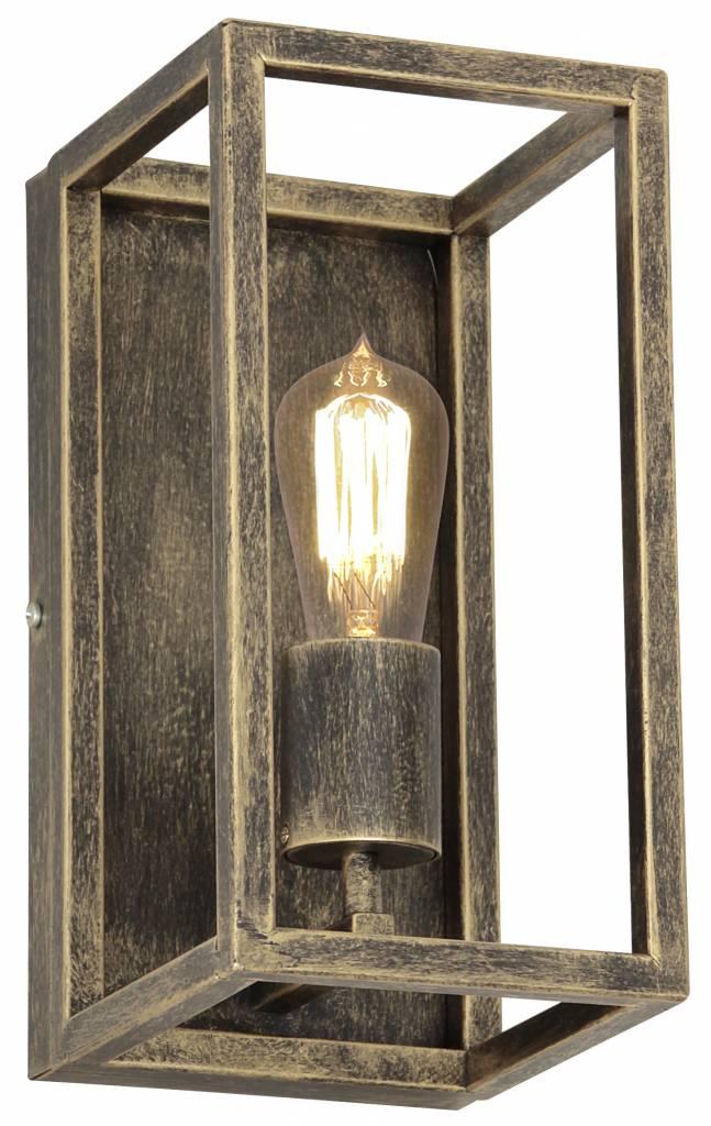 Wandlamp zwart, ruggine of oud koper landelijk E27 300mm - Myplanetled