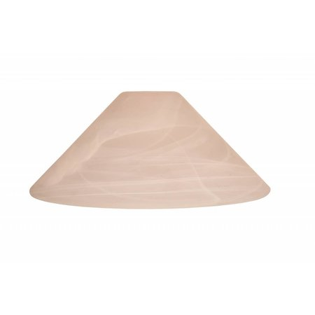 Lamp shade glass mat conic 200mm wide for ARM-288