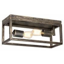 Ceiling light ruggine/aged copper/black 2xE27 400mm wide