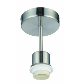 Pendant light round grey 140mm high for lamp shade fabric